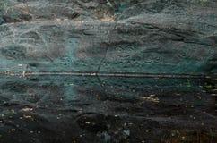 Petroglifo di Taino vicino ad acqua Fotografia Stock Libera da Diritti