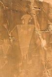 Petroglifo in monumento nazionale del dinosauro Immagine Stock Libera da Diritti
