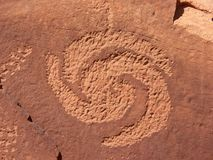 Petroglifo a spirale Fotografia Stock Libera da Diritti