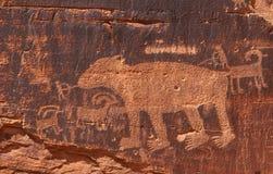 Petroglifos imágenes de archivo libres de regalías