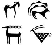 Petroglifos Imagen de archivo libre de regalías