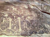Petroglifos antiguos en Mesa Verde Imagenes de archivo