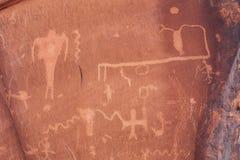 Petroglifos antiguos en Moab, Utah Imagen de archivo