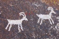 Petroglifos de la barranca de Grapvine Imagen de archivo libre de regalías