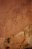 Petroglifos de la gente del nativo americano de Anasazi Fotos de archivo libres de regalías