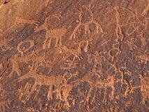 Petroglifos de la isla de la arena Imagen de archivo libre de regalías