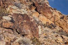 Petroglifos de Parowan Gap Fotos de archivo libres de regalías