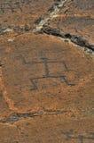 Petroglifos de Puako Imagen de archivo libre de regalías