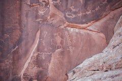 Petroglifos de Utah Imagen de archivo libre de regalías