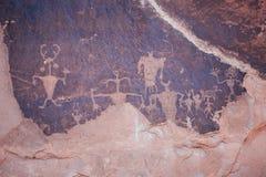 Petroglifos del campo de golf Imagen de archivo libre de regalías