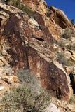 Petroglifos del nativo americano Foto de archivo libre de regalías