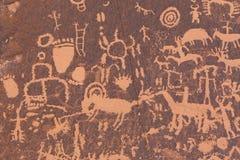 Petroglifos del nativo americano Fotografía de archivo