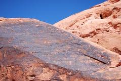 Petroglifos en barranco del petroglifo Imagen de archivo