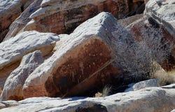 Petroglifos en la roca Fotografía de archivo