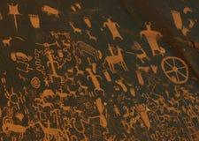 Petroglifos en la roca Utah del periódico Imágenes de archivo libres de regalías