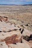 Petroglifos en parque nacional del bosque aterrorizado Imágenes de archivo libres de regalías