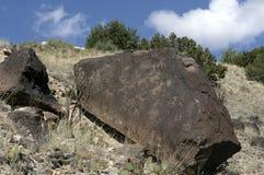 Petroglifos en roca Fotografía de archivo