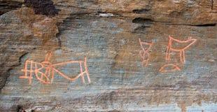 Petroglifos en Troms Imágenes de archivo libres de regalías