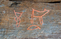 Petroglifos en Troms Imagen de archivo
