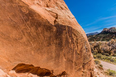 Petroglifos en Utah Fotografía de archivo