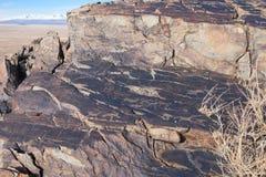 Petroglify Brązowy wiek Obraz Royalty Free