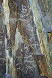 Petroglify kołysają cyzelowania Fotografia Royalty Free