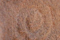 Petroglify lub rockowy cyzelowanie przy Lasu Tricias losem angeles Palma zdjęcie royalty free