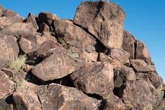 Petroglify na kamieniu Obraz Royalty Free
