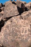 Petroglify na kamieniu Fotografia Royalty Free