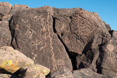 Petroglify na kamieniu Zdjęcia Royalty Free