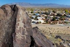 Petroglify, petroglifu Krajowy zabytek, Albuquerque, Nowy - Mexico obrazy royalty free
