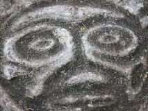 Petroglyhps. In bella coola stock photography