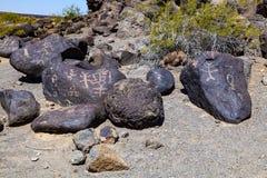 Petroglyph περιοχή, κοντά στην κάμψη Gila Στοκ εικόνες με δικαίωμα ελεύθερης χρήσης