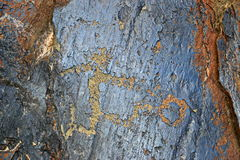 Petroglyph ποδοσφαίρου στοκ φωτογραφίες με δικαίωμα ελεύθερης χρήσης