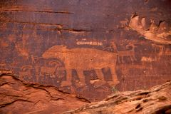 Petroglyph Royalty Free Stock Photography
