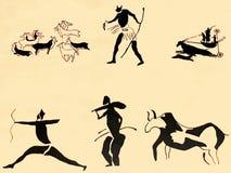 Petroglyph antigo velho da parede da Idade do Bronze em Tamanrasset Argélia Tamanrasset tem o th de muitas cavernas Imagem de Stock Royalty Free