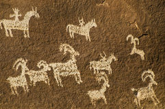 Petroglyph canyonlands national park. In moab utah Stock Image