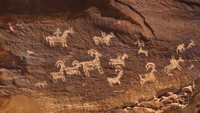Petroglyph in canyonlands national park Royalty Free Stock Image