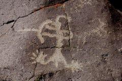 Petroglyph da escala de Coso Imagens de Stock Royalty Free