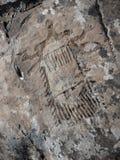Petroglyph desconhecido paleolítico do objeto fotos de stock