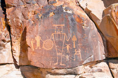 Petroglyph at Dinosaur National Monument. Petroglyph of a human figure at McKee Springs. This petroglyph is located in the monument about 20 miles away from the Royalty Free Stock Photos