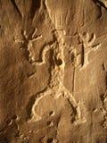 Petroglyph do homem Imagens de Stock