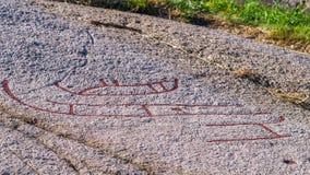 Petroglyph europeu norte Imagens de Stock Royalty Free