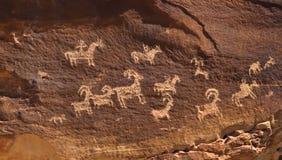 Petroglyph i canyonlandsnationalpark Royaltyfri Bild
