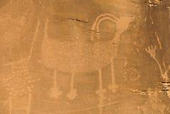 Petroglyph i nationell monument för dinosaurie Arkivbild