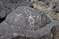 Petroglyph or Man - Rock Art Stock Photography