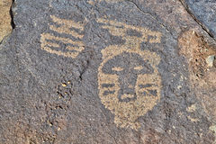 Petroglyph of Native American Royalty Free Stock Image