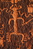 Petroglyph on Newspaper Rock Stock Photos