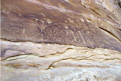 Petroglyph Panel in Mesa Verde National Park Stock Photo