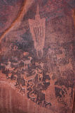 Petroglyph. Photograph of petroglyphs /Native American art Royalty Free Stock Photo